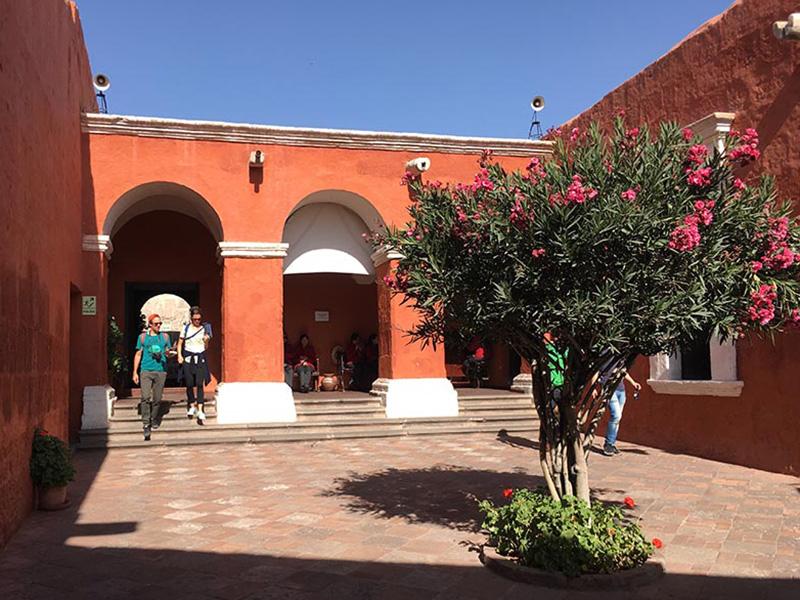 Santa Catalina monastery courtyard
